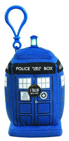 Travel through time in style with this Doctor Who TARDIS 4-Inch Plush Clip-On!