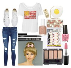 Bailey: August 13, 2016 by disneyfreaks39 on Polyvore featuring moda, J Brand, Converse, Skinnydip, Casetify, NARS Cosmetics, MAC Cosmetics, Topshop, DIY Nails and Essie