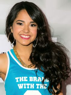 Becky G: Bright Pink Lips and Rosy Cheeks