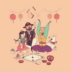 Shop gallery quality art prints by Ena Kim. Overwatch Comic, Overwatch Fan Art, All Hero, Dog Years, Fighting Games, Freelance Illustrator, Motion Design, Nerd, Character Design