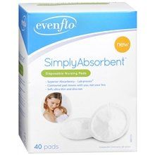 Ebenflo Simply Absorbent Nursing Pads 40 Count