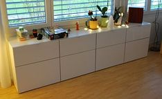 """Elena and Markus are total Ikea addicts who hacked this Besta storage for toys. """"We bought two Besta shelf units last spring and wanted to use them to store the kids' toys in the living room. Unfortunately you cannot have this unit with two drawers, because the drawers are a little less than half the …"""
