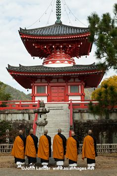 Monks chanting at Daikakuji - an Esoteric Buddhism temple in Saga, Kyoto that was once a villa of Emperor Saga.