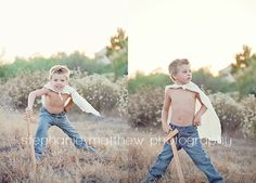 Little boy photo shoot superhero!! Definitely need to do this for Shayne's next photos!!