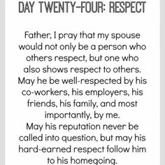 Day 24 of praying for your husband