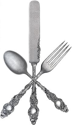 """Love this free """"Fork Spoon Knife"""" Clip Art from the ever-fabulous, Graphics Fairy. Lots of super easy, cute, kitchen ideas for this... and pretty much all involve burlap or drop cloth or flour sack towels"""