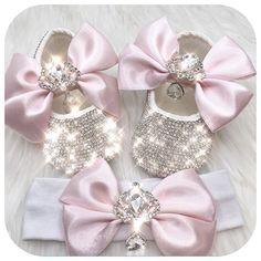 Royal Babydoll Glam Crystal Infant Shoes and Sparkle Headband Bling Baby Shoes, Baby Bling, Bling Bling, Baby Christmas Gifts, Crystal Shoes, Decorated Shoes, Baby Accessories, Fashion Accessories, Baby Boutique