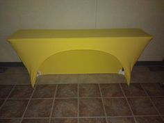 Yellow open back! Great for storage!