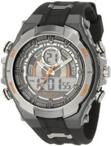 Mns AnaDigi Gray Resin StrapThe Armitron Men's Analog-Digital Multi-Function Gray and Black Sport Watch features an alarm, chronograph subdials, dual time zone, and countdown features to give… Mens Sport Watches, Watches For Men, Women's Watches, Wrist Watches, Emporio Armani, Best Sports Watch, Diesel, Running Watch, Michael Kors