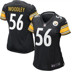 Nike Women's Pittsburgh Steelers LaMarr Woodley Game Team Color Jersey