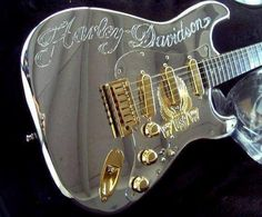Beautiful Harley Davidson Guitar posted by Guitar Stratocaster Guitar, Fender Guitars, Fender Custom Shop, Custom Guitars, Unique Guitars, Harley Davidson, Gretsch, Jackson, Types Of Guitar