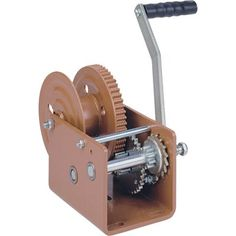 Dutton-Lainson Winch with Automatic Brake - Capacity, Model# Bronze powder-coated finish Cranks in and out under load Self-locking winch does not freewheel, making it ideal for vertical lifting