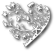 Karten-Kunst - Stempel- und Scrapbook-Shop - Memory Box Stanzschablone - Serafina Heart