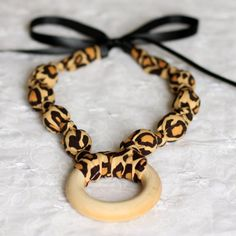 Woowza Leopard Print Nursing and Teething Necklace