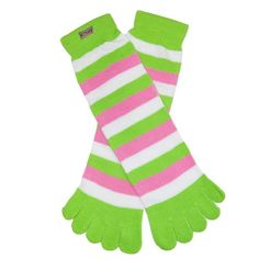 RSG Teen Girls & Women's Toe Socks (Lime/Pink/White) RSG http://www.amazon.com/dp/B00GWYWT66/ref=cm_sw_r_pi_dp_6Fkcwb01J6M78
