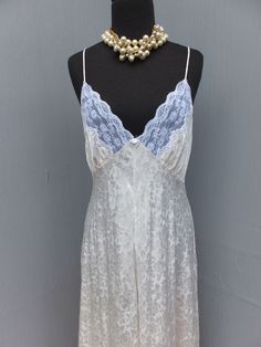 Vintage Miss Dior Robe Gown Wedding Lingerie White by SweetDrawers