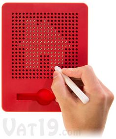 """Magnatab Magnetic Tablet - use the stylus to """"pop"""" up individual bead to the surface. So much fun!"""