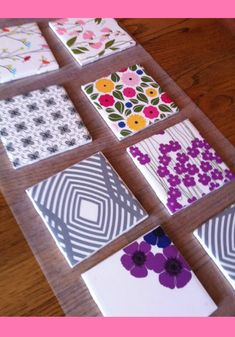 Transform ceramic tiles into DIY tile coasters with scrapbook paper. This is a simple craft that makes a fun handmade gift and adds color to your home! tiles handmade diy coasters DIY Night: Tile Coasters with Scrapbook Paper Coaster Crafts, Diy Coasters, Coaster Art, How To Make Coasters, Ceramic Coasters, Diy Crafts To Sell, Easy Crafts, Crafts For Kids, Simple Paper Crafts