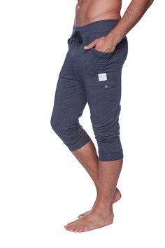 Mens Cuffed Yoga Pants (Solid Charcoal)