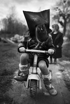 Tricycle Rider of the Apocalypse ... rider on the storm .... unto this house was born ...