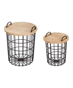 Metal Storage Basket Set #zulily #zulilyfinds