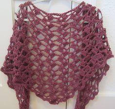 """Cascading Petals Shawl"" Crochet Pattern.Triangle Wingspan. $4.00, via Etsy. Also on raverly.com"