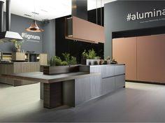 ALUMINIUM KITCHEN WITH ISLAND ALUMINA BY COMPREX | DESIGN MARCONATO & ZAPPA ARCHITETTI ASSOCIATI