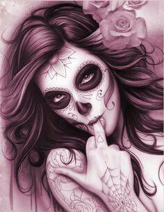 Skull pin up