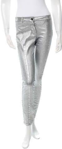 Robert Rodriguez Metallic Skinny Pants w/ Tags Women Pants, Skinny Pants, Metallic, Tags, Stylish, Fashion, Trousers Women, Moda, Fashion Styles