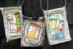 The Itsy Bitsy Spill: Beautiful fabric pendants