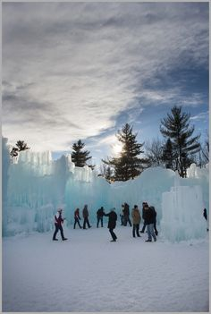 Ice Castles of Lincoln, New Hampshire Ice Castles New Hampshire, Lake Winnipesaukee Nh, Places To Travel, Places To See, Snow Sculptures, White Mountains, Winter Photos, Winter Beauty, Live Free