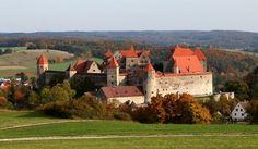 harburg castle - romantic road - bavaria - Germany