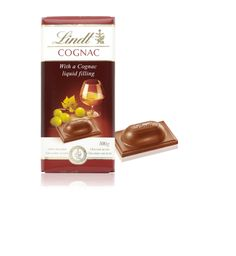 Lindt chocolate with Cognac. YES