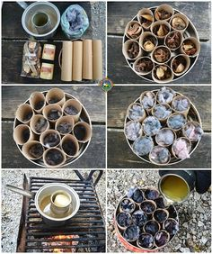 Make Your Own Fire Starter Logs for a One Match Fire Have trouble getting a campfire to stay lit? Make your own fire starter logs for a one match fire each time. These are cheap and easy to make. Camping Diy, Bushcraft Camping, Camping Stove, Camping Survival, Camping And Hiking, Survival Skills, Camping Hacks, Outdoor Camping, Camping Ideas