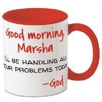 Start each day with a comforting message from God! Ceramic 11-oz. mug is microwave / dishwasher safe, but hand washing is preferable to maintain depth of design color. 4