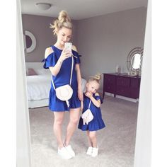 Mommy and Me Family Matching Mother Daughter Dresses Outfits Pajamas Summer Ruffles Short Sleeve Midi Skirt Baby Girls Dress Mom And Baby Outfits, Mother Daughter Matching Outfits, Mother Daughter Fashion, Boys Summer Outfits, Family Outfits, Kids Outfits, Club Outfits, Fashion Kids, Womens Fashion