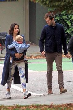 Jamie Dornan with wife Amelia & baby in Vancouver
