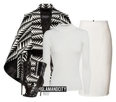 """Untitled #398"" by glamandcity ❤ liked on Polyvore featuring Balmain, Burberry, AG Adriano Goldschmied and Philipp Plein"