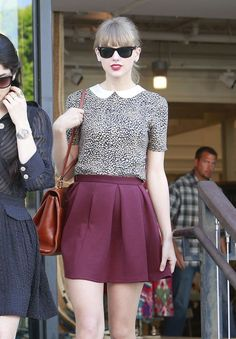 Leaving a store in Beverly Hills, California!