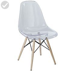 Modway Pyramid Dining Side Chair, Clear - Improve your home (*Amazon Partner-Link)