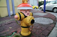 Fire hydrants painted to spread awareness of fire safety