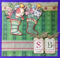 Cute Stocking Cuties layout by Susan M. Brown {sbartist} using Unscripted Sketches #162