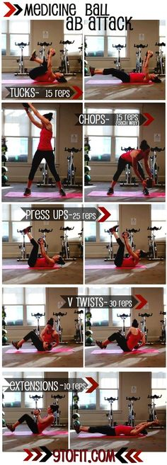 Medicine Ball Ab Workout: I think my abs hurt just looking at this.  hee hee!