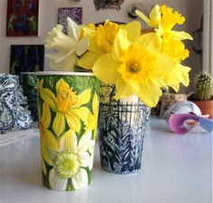Gwyneth's Full Brew: A Bouquet of Spring Cup Drawings and Upcoming Exhi...