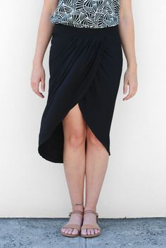 Kendall Wrap Skirt - Black – Sienna Muse