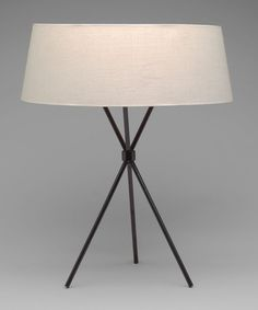 "Table Lamp (model 170)  T. H. Robsjohn-Gibbings (American, born England. 1905-1976)    1950. Metal and linen, 21 1/2 x 17"" (54.7 x 43.2 cm). Manufactured by Widdicomb Furniture Co., New York, NY. Gift of the manufacturer"
