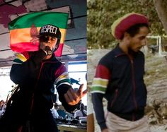 Damian Marley (l) and Bob Marley (r). I was just going through my research files and realized they were wearing the same jacket. Like father, like son. Thought it was awesome.