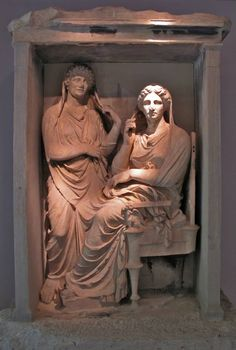 Grave relief of Demetria and Pamphile, 325-310 BC, Museum of Kerameikos, Athens