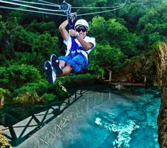 Zip line through one of the longest cables in the DR and visit Hoyo Azul, the most sought after attraction in Punta Cana! Book Online Now.