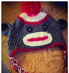 A personal favorite from my Etsy shop https://www.etsy.com/listing/244722913/sock-monkey-crochet-hat